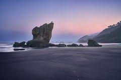 Playa del Aguilar, Asturies au nord de l'Espagne photographie stock libre de droits