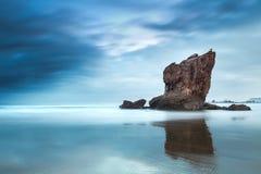 Playa del Aguilar, Asturies au nord de l'Espagne images stock