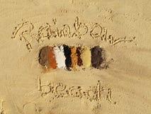 Playa del arco iris, Queensland, Australia foto de archivo