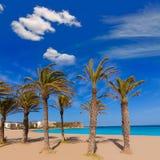 Playa del Arenal Xabia Javea στη μεσογειακή Ισπανία Στοκ Εικόνα