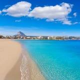 Playa del Arenal Xabia Javea στη μεσογειακή Ισπανία Στοκ Φωτογραφία