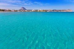 Playa del Arenal Xabia Javea στη μεσογειακή Ισπανία Στοκ εικόνα με δικαίωμα ελεύθερης χρήσης