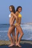 Playa del bikiní fotos de archivo