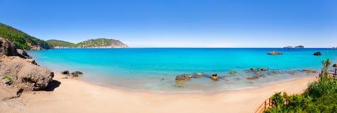 Playa del blanca Ibiza del Agua de Aiguas Blanques Foto de archivo