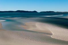 Playa del blanco de la isla de Whitsundays Foto de archivo