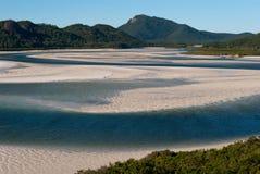 Playa del blanco de la isla de Whitsundays Fotos de archivo libres de regalías