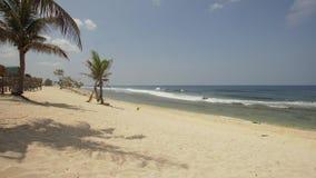 Playa del blanco de Sandy filipinas metrajes