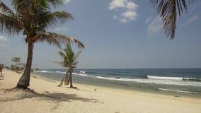 Playa del blanco de Sandy filipinas almacen de video
