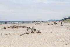 Playa del blota de Karwienskie Imagen de archivo libre de regalías