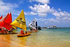 Playa del Brasil imagenes de archivo