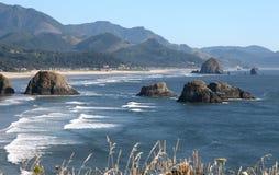 Playa del cañón, costa costa de Oregon. Imagen de archivo libre de regalías