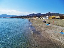 Playa del cabo de Gata Adra Almeria Andalusia Spain de Bala Negra imagenes de archivo