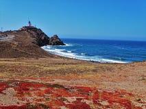 Playa del cabo de Gata Nijar Almeria Andalusia Spain de Corralete imagenes de archivo