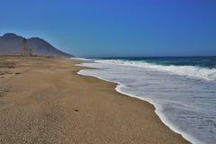 Playa del cabo de Gata Nijar Almeria Andalusia Spain de las salinas de los las de Almadraba de Monteleva o imagen de archivo