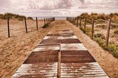 Playa del camino Imagen de archivo libre de regalías