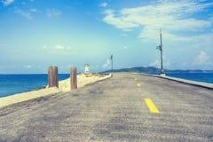 Playa del camino Foto de archivo libre de regalías