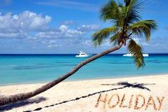 Playa del Caribe, día de fiesta en arena Fotografía de archivo