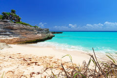 Playa del Caribe en Playa del Carmen Fotografía de archivo libre de regalías