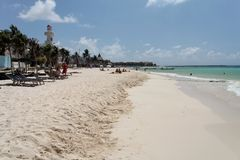 Playa del Carmem Beach Yucatan Mexico Stock Image