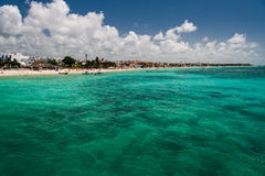Playa del Carmem Beach Yucatan Mexico Stock Photography