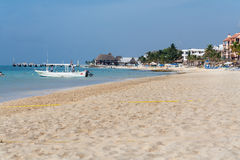 Playa del Carmem Beach Yucatan Mexique Photo stock