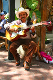 PLAYA DEL CARMEN, ΜΕΞΙΚΟ 18 ΜΑΡΤΊΟΥ: Μεξικάνικο guitari Στοκ Εικόνα