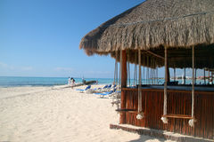 Playa del Carmen beach. Relaxing view of beach in Playa del Carmen, Mexico Stock Photos