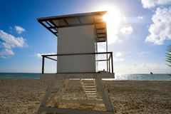 Playa del Carmen beach baywatch tower. In Riviera Maya Cancun Mexico Royalty Free Stock Image