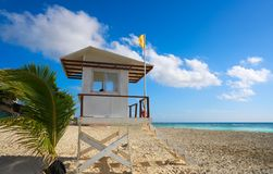 Playa del Carmen beach baywatch tower Royalty Free Stock Image