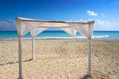 Playa del Carmen beach Gazebo Mexico Stock Photos