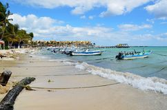 Playa del Carmen beach. In Mexico Royalty Free Stock Images