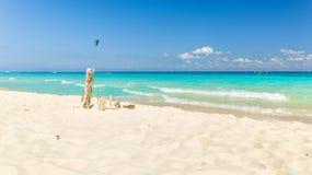 Playa Del Carmen beach, Mexico. Carribean sea scenery in Playa Del Carmen, Mexico Royalty Free Stock Photos
