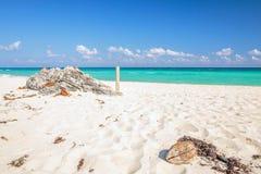Playa Del Carmen beach, Mexico. Carribean sea scenery in Playacar ( Playa Del Carmen ), Mexico Stock Image