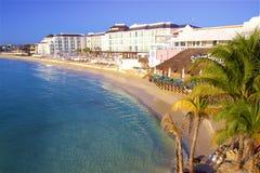 Playa del Carmen beach, Mexico. Playacar and Playa del Carmen beach, Mexico Royalty Free Stock Images