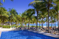 Playa del Carmen beach, Mexico. Playacar and Playa del Carmen beach, Mexico Royalty Free Stock Photography