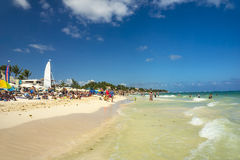 Playa del Carmen beach in Mexico Stock Photo
