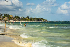 Playa del Carmen beach in Mexico Stock Images
