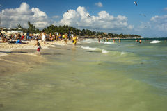Playa del Carmen beach in Mexico Stock Photography