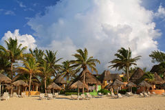 Playa del Carmen beach resort, Mexico Royalty Free Stock Images