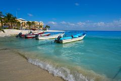 Playa del Carmen beach in Riviera Maya Royalty Free Stock Photography
