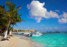 Playa del Carmen beach in Riviera Maya Stock Photography
