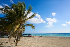Playa del Carmen beach in Riviera Maya Royalty Free Stock Photos