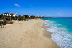 Playa del Carmen beach in Riviera Maya. Near Cancun Mayan Mexico Royalty Free Stock Photography