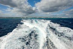 Playa del Carmen coastline Stock Image