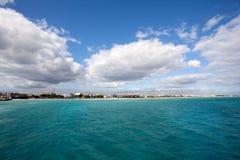 Playa del Carmen coastline. View near Cozumel island Royalty Free Stock Images