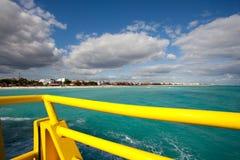 Playa del Carmen coastline. View near Cozumel island Stock Images