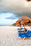 Playa del Carmen - Messico. Beach with fine white sand. wonderful place royalty free stock photos