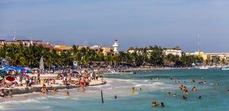 Playa Del Carmen Mexico Beach Stock Image