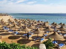 Playa Del Carmen. Mexico Hotel Beach Tourist Resort Mayan Riviera Caribbean Royalty Free Stock Photography