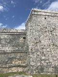 Playa del carmen mexico mayan ruins in tulum royalty free stock photo